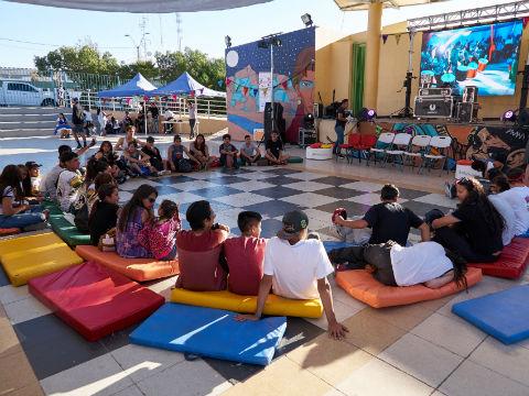 """Jóvenes loínos disfrutaron de Encuentro """"Calama Activa"""""""