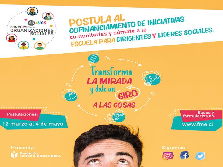 Lanzan XX versión del Concurso para Organizaciones Sociales de Fundación Minera Escondida