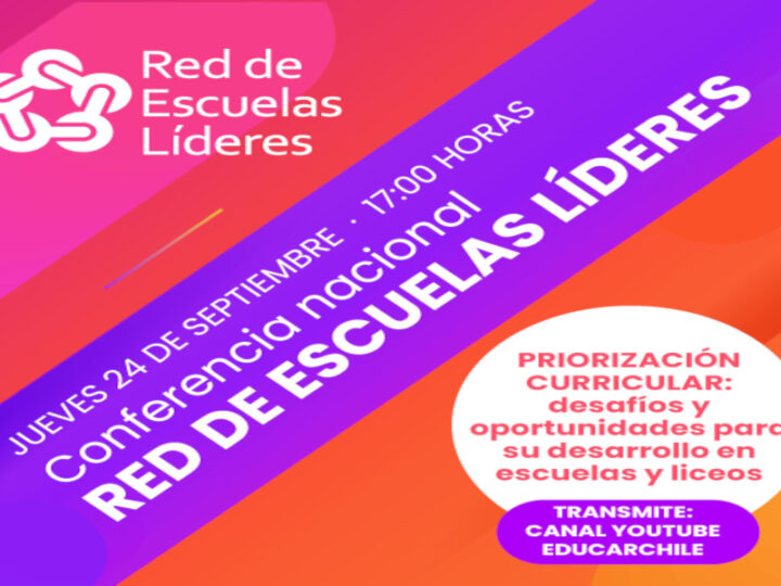 Red de Escuelas Líderes invita a seminario sobre priorización curricular