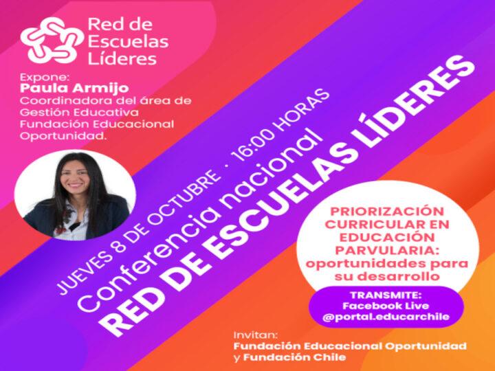 Red de Escuelas Líderes realizará una conferencia sobre priorización curricular en educación parvularia