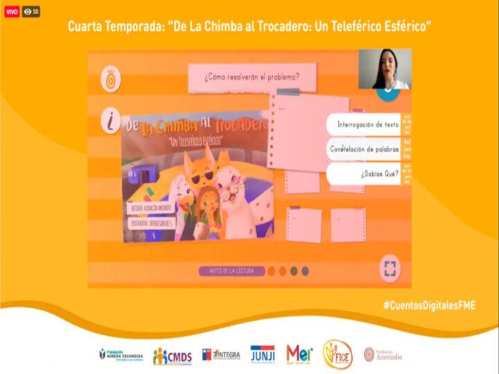 Cuarta temporada de Cuentos Digitales incentiva la creatividad y aprendizaje de los niños y niñas