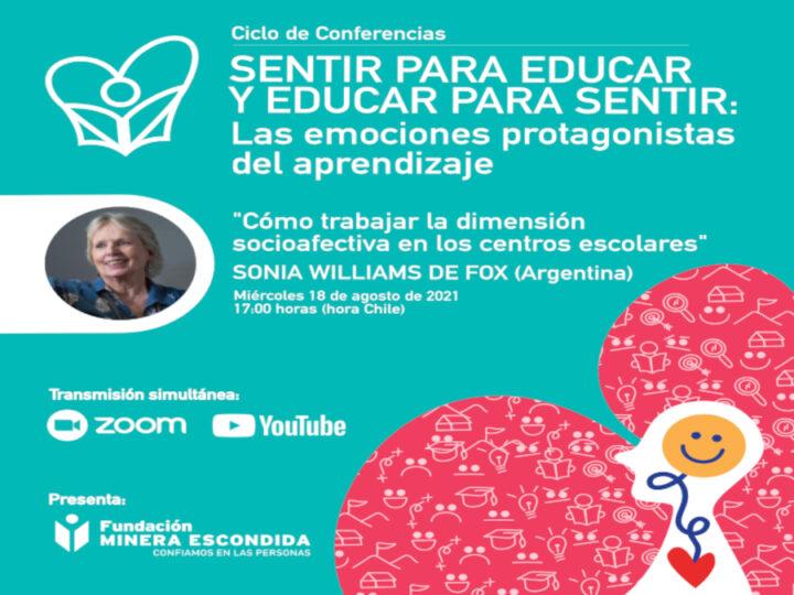 """Sonia Williams expondrá """"Cómo trabajar la dimensión socioafectiva en los centros escolares"""""""